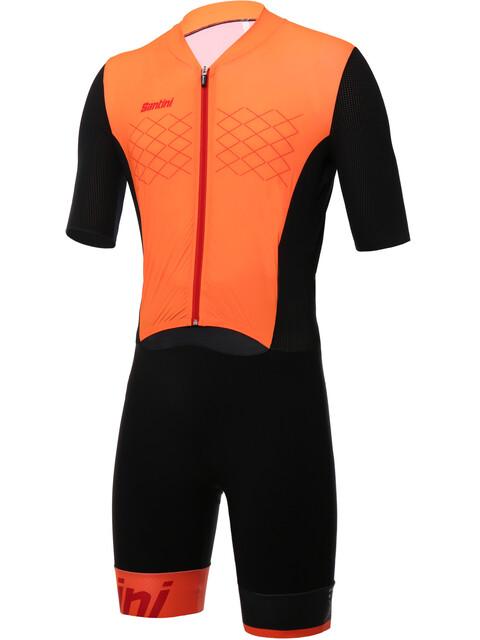 Santini Redux Trisuit SS Men arancio fluo